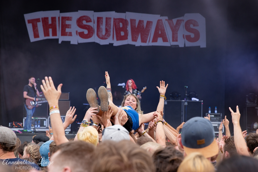 07.08.2019: The Subways auf dem Open Flair-Festival in Eschwege