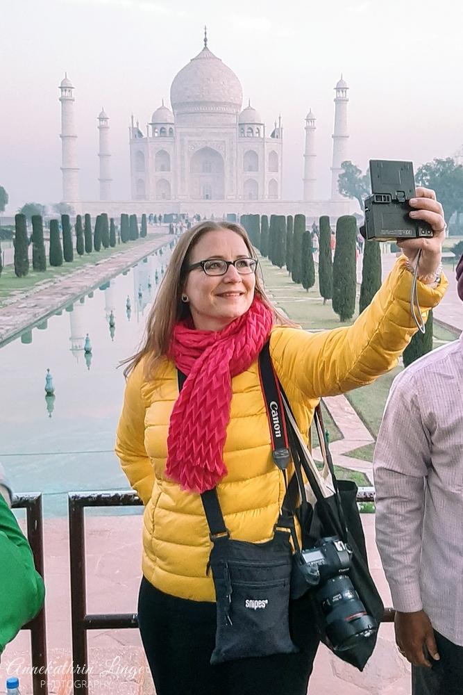 2020: am Taj Mahal (Indien)
