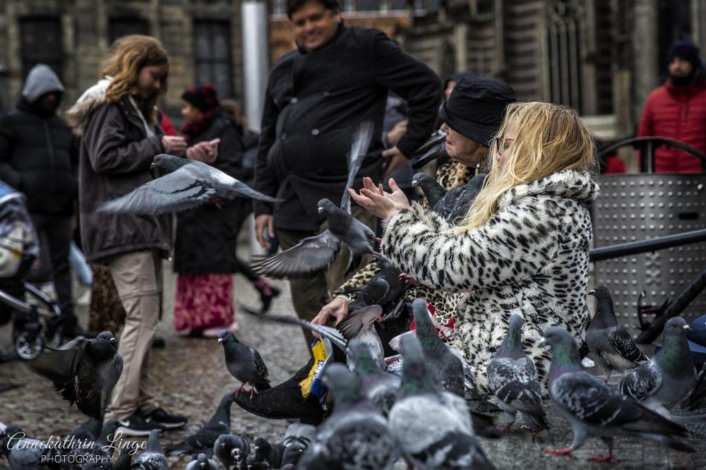 Das Mädchen mit den Tauben